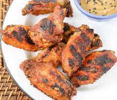 Ancho Peach Chicken Wings