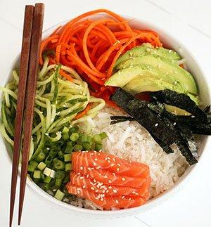 Bowl Sushi (Chirashi)-types of sushi