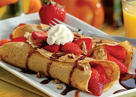 Crepes Strawberries recipe step by step preparation at home