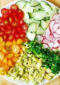 Cucumber Tomato Radish Salad Recipe