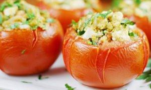 Stuffed Tomatoes with Feta Cheese recipe